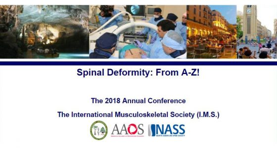 ۱۱th Annual International Musculoskeletal Society (I.M.S.) Meeting